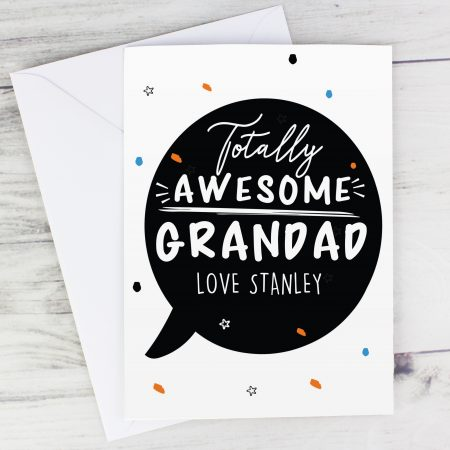 Personalised Grandad Totally Awesome Card