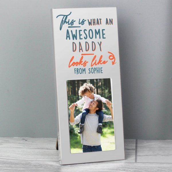 Personalised Grandad This Is What Awesome Looks Like Silver 2x3 Photo Frame