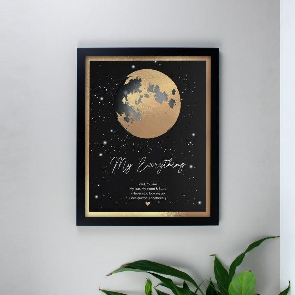 Personalised You Are My Sun My Moon Romantic Black Framed Print