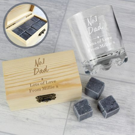 Personalised No.1 Cooling Stones & Glass Set