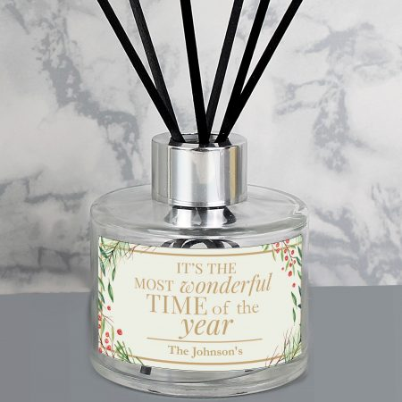 Personalised 'Wonderful Time of The Year' Christmas Reed Diffuser
