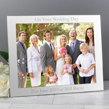 Personalised 10x8 Landscape Silver Photo Frame for Grandad