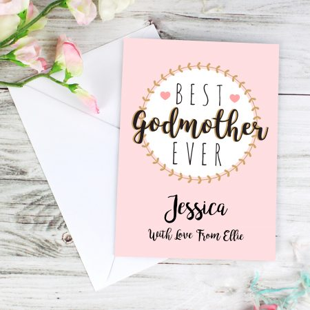 Personalised Best Godmother Card for Christening