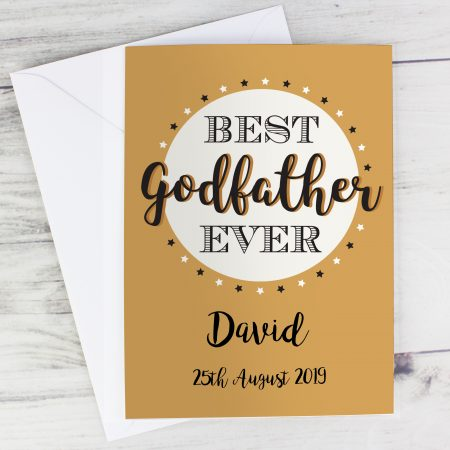 Personalised Best Godfather Card for Christening