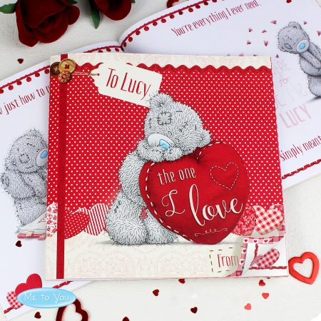 Personalised Me to You The One I Love Romantic Poem Book