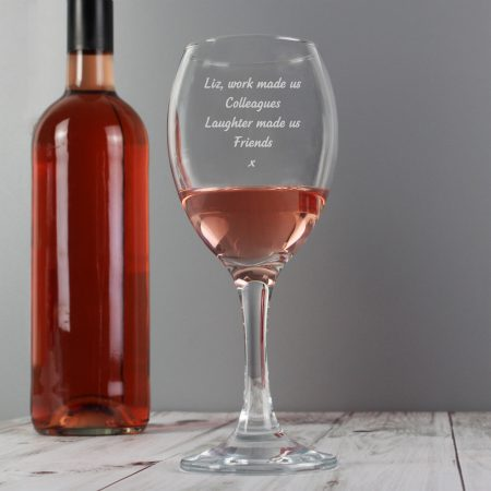 Personalised Barware Any Message Wine Glass
