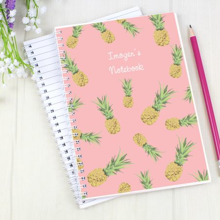 Personalised Pineapple A5 Stationery Notebook