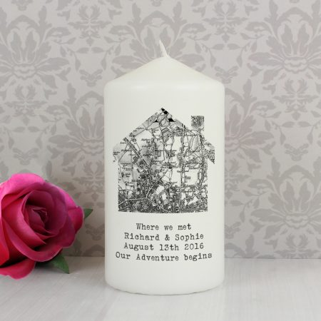 Personalised Grandad 1805 - 1874 Old Series Map Home Pillar Candle