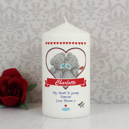 Personalised Me to You Couple Pillar Candle