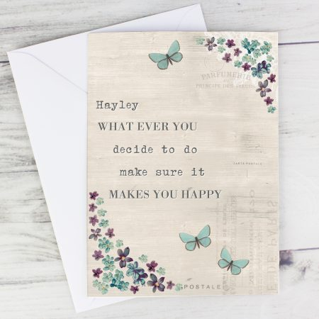 Personalised I miss you Forget Me Not Card