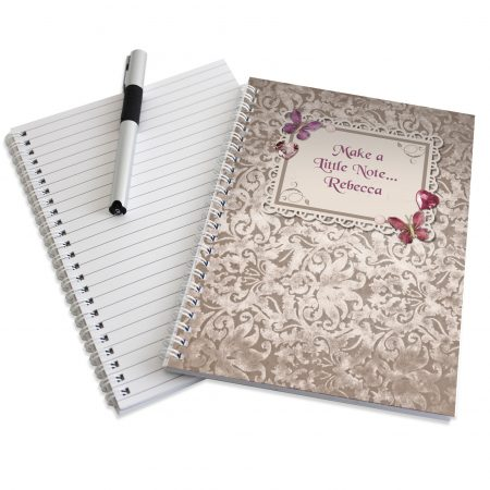 Personalised Butterfly Gem A5 Stationery Notebook