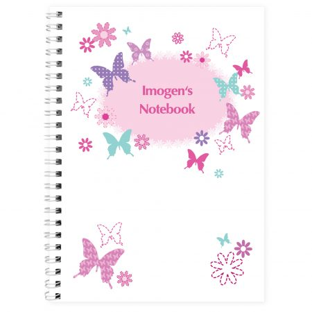 Personalised Butterfly A5 Stationery Notebook