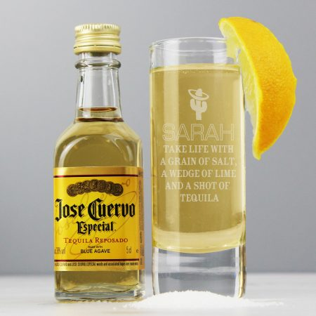 Personalised Grandad Tequila Shot Glass and Miniature Tequila