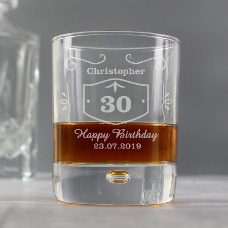 Personalised Grandad Classic Whisky Style Tumbler Bubble Glass
