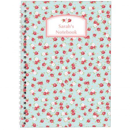 Personalised Vintage Floral A5 Stationery Notebook