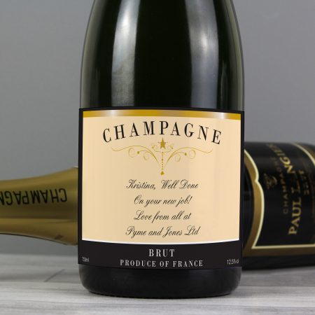 Personalised Grandad Any Message Classic Label Champagne