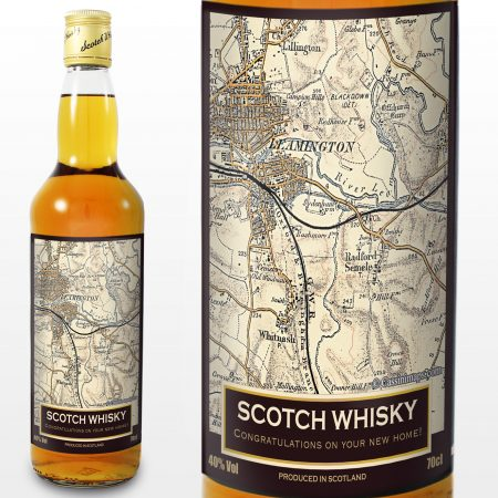 Personalised Grandad 1896 - 1904 Revised New Map Whisky