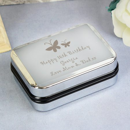 Personalised Butterfly Motif Necklace Jewellery Box