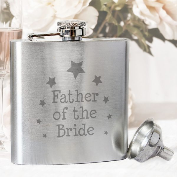Barware Father of the Bride Hip Flask