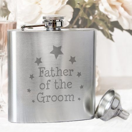Barware Father of the Groom Hip Flask