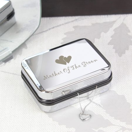 Mother Of Groom Heart Necklace Jewellery Box