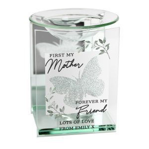 Personalised 'First My Mother' Butterfly Candle Oil Burner