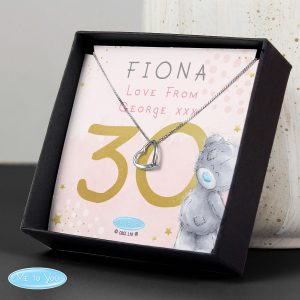 Personalised Me To You Sparkle & Shine 16th Birthday Sentiment Silver Tone Necklace and Box