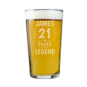 Personalised Years of This Legend 16th Birthday Pint Glass