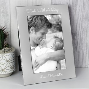 Personalised Grandad Text 7 x 5 Silver Photo Frame