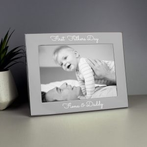 Personalised Grandad Text 5 x 7 Silver Photo Frame