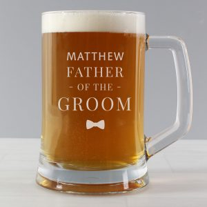 Personalised Father of the Groom Pint Stern Barware Tankard