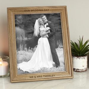 Personalised Grandad Text 8x10 Wooden Frame